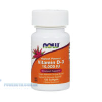 Now Foods Vitamin D3 10,000 IU 120 caps