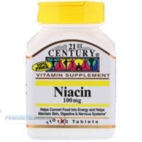 21st Century Niacin 100 mg 110 Tablets