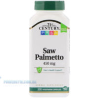 21st Century Saw Palmetto 450 mg 60 Vegetarian Capsules
