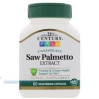 21st Century Saw Palmetto Extract (160mg-Zinc 15 mg) 60 Vege