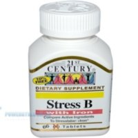 21st Century Stress B with Iron 66 Tablets