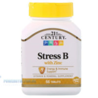 21st Century Stress B with Zinc 66 Tablets