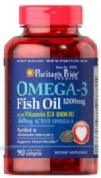 Omega 3 Fish Oil 1200 mg plus Vitamin D3 1000 IU 90 капс