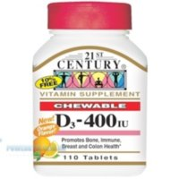 21st Century Vitamin D3 Chewable 400 IU 110tablets (Orange)
