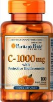 Vitamin C-1000 mg with Bioflavonoids & Rose Hips 100 капс