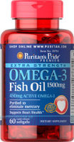 Extra Strength Omega-3 Fish Oil 1500 mg (450 mg Active Omega-3) 60 капс