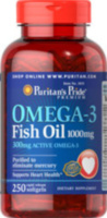 Omega-3 Fish Oil 1000 mg (300 mg Active Omega-3) 250 капс