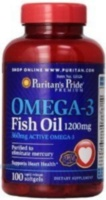 Omega-3 Fish Oil 1200 mg (360 mg Active Omega-3) 100 капс
