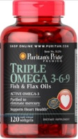 Triple Omega 3-6-9 Fish & Flax Oils 120 капс